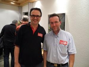 Daniel Ziegenhagen (rechts) und Martin Ulrich freuen sich über die Aufname in den Verband